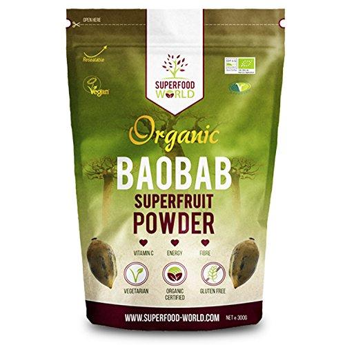 Organic Baobab Powder | Raw Organic Baobab Superfruit Powder | Rich in Vitamin C, Fibre & Antioxidants | Supports…