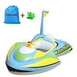 Kemuse Baby Toddler Inflatable Motorboat Kids Swimming Float,Children Swim Ring with Toys Gift & Storage Bag