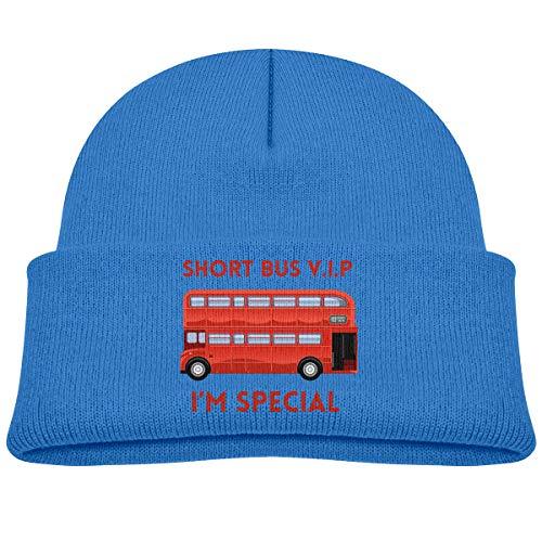 Banana King Short Bus VIP Logo Cartoon Car Music Drive Baby Beanie Hat Toddler Winter Warm Knit Woolen Watch Cap for Kids
