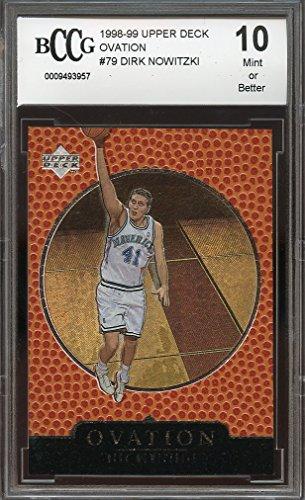 1998-99 upper deck ovation #79 DIRK NOWITZKI rookie BGS BCCG 10 Graded Card