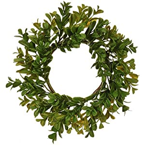 RAZ Imports Artificial Boxwood Candle Ring - 11 inch 117