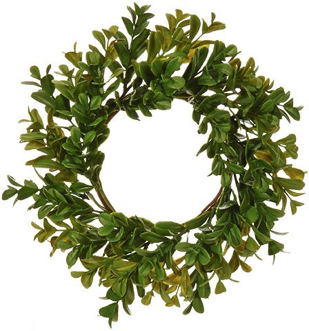 RAZ Imports Artificial Boxwood Candle Ring - 11 inch (Ring Pillar Candle)
