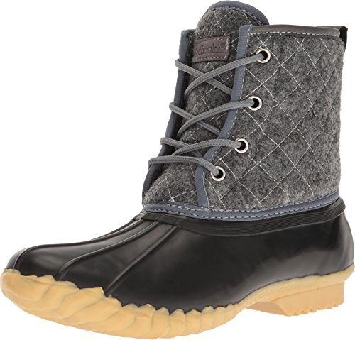 Chooka Women's Eastlake Quilted Duck Boot Charcoal 5 M US