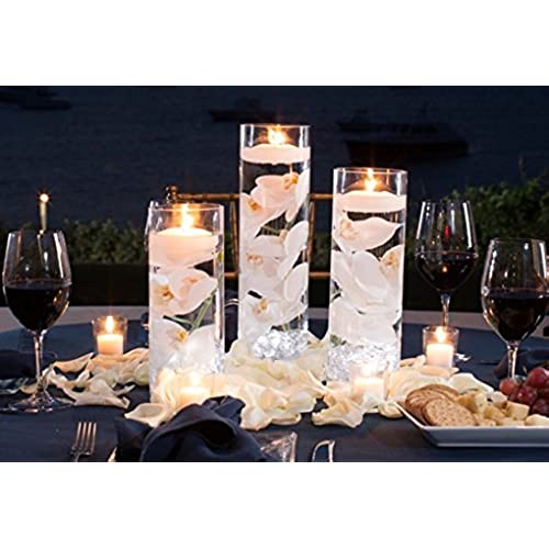 Etonnant 3 Glass Cylinder Vase Party Centerpiece|Elegant Wedding Decoration  Idea|Formal Dining Table Decorative Set W/ Flower Petals, Floating Candles,  ...