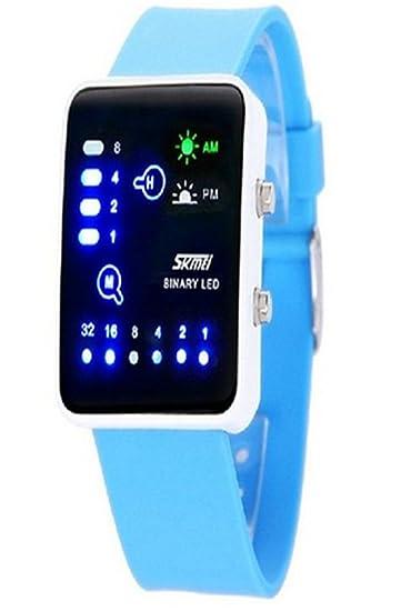 carlien LED Digital reloj para hombre y mujer impermeable reloj de pulsera elegante relojes de los amantes de los sk-005 - 0890: Amazon.es: Relojes
