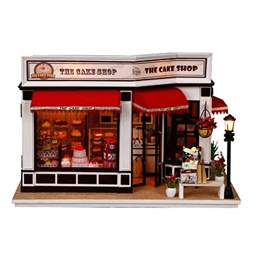 Homyl 1/24 Scale DIY Miniature Dollhouse Cake shop for sale  Delivered anywhere in USA