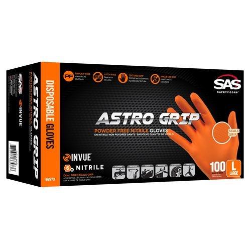 Pack of 1000 Medium SAS Safety 66572 Nitrile Astro Grip Powder-Free Disposable Glove SAS Safety Corp 1188T56CS