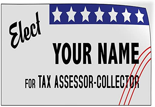 Custom Door Decals Vinyl Stickers Multiple Sizes Elect Name for Position Black Blue Political Elect Signs Outdoor Luggage /& Bumper Stickers for Cars White 58X38Inches 1 Sticker