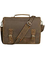 NEW ARRIVAL Mens Genuine Leather Briefcase Messenger Bag Lawyer Laptop Bag,MB001A