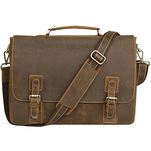 NEW ARRIVAL Men's Genuine Leather Briefcase Messenger Bag Lawyer Laptop Bag,MB001A