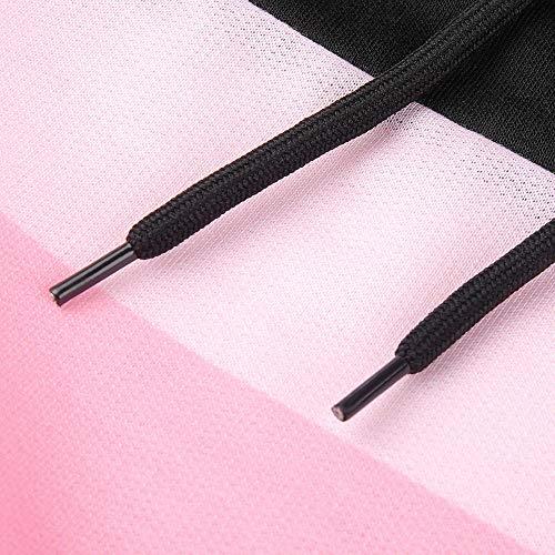 della Manicotto Liquidazione Maniche Vendita Shirt Camicia Pullover Nero del Elegante Tops Felpa Camicette Casuale Lunghe T di delle Banda Casual Stampa Donne Camicie 858aqXw