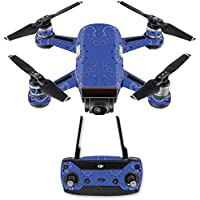 Skin for DJI Spark Mini Drone Combo - Blue Bandana| MightySkins Protective, Durable, and Unique Vinyl Decal wrap cover | Easy To Apply, Remove, and Change Styles | Made in the USA