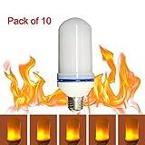 Alonea LED Flame Fire Light Effect Simulated Nature Corn Bulbs E26 Decoration Lamp Pack of 10
