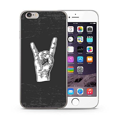 Rockn Roll Zeichen iPhone 6 & 6S SLIM Hardcase Hülle Cover Case Schutz Schale Rock Rocker Grunge
