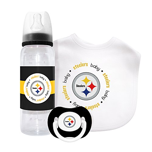 (Baby Fanatic NFL Pittsburgh Steelers Baby Fanatic Baby Fanatic Gift Set)
