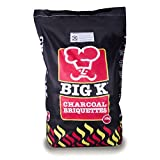 The Chemical Hut 10kg Premium Long Lasting Charcoal Briquettes for Summer Bank Holiday BBQ Cooking/Tandoori & Turkish Ovens/Grilling - Comes with THE LOG HUT Woven Sack