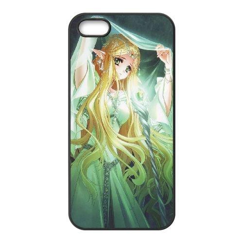 Q9R83 princesse elfe G7E2FE coque iPhone 5 5s cellulaire cas de téléphone couvercle coque noire RY5JUR4YW