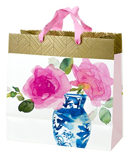 - Hallmark Large Square Gift Bag (Watercolor Flowers)