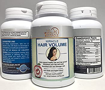 MIRACLE HAIR VOLUME - 120 Capsules With BIOTIN And APPLE EXTRACT - 60 Days Supply