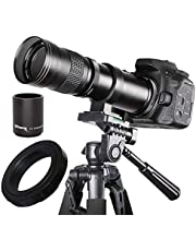 $99 » Ultimaxx 420-800mm (840-1600) HD Telephoto Zoom Lens for Canon EOS 90D, 80D 77D, 70D, 5D Mark IV, 6D Mark II, 7D Mark II DSLR Cameras & Rebel T7i, T7s, T7, T6s, T6i, T6, SL3, SL2 Digital SLR Cameras