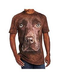 Colmkley Summer Casual Men's Creative Short Sleeve 3D Digital Print T-Shirt Tops