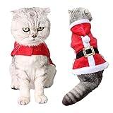 Christmas Pet Clothes, Legendog Cat Costume Cute Adjustable Santa Claus Pet Hoodie Coat for Cat