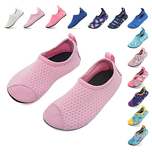 d3f12d73c244b Coolloog Water Shoes for Kids Water Shoes Toddler Swim Shoes Peach 9.5-10 M  US Toddler