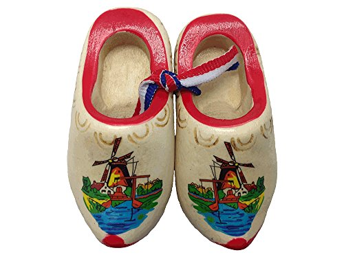 Essence of Europe Gifts E.H.G Dutch Shoes Decorated Wooden Clogs (2.5
