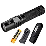 Fenix E35 Ultimate Edition (E35UE) 1000 Lumens Compact Pocket LED Flashlight with Fenix ARE-X1 Charger, Battery and Premium Lumen Tactical Holster