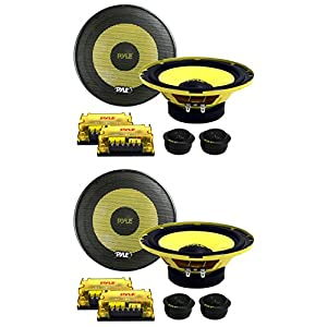 "4) New PYLE PLG6C 6.5"" 800W 2 Way Car Audio Component Speakers Set Power System"