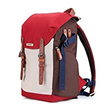 Camera backpack for women with laptop dslr insert accessories tripod strap gadget bag for sony/canon EOS rebel/nikon/video cameras (Red)