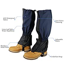 Xcellent Global 1 Pair Unisex Waterproof High Gaiters Rain Boot Shoe Cover for Biking Boating Fishing Skiing Hiking Climbing HG153B
