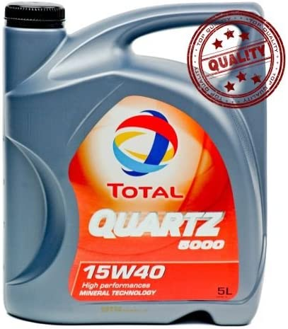 Aceite lubricante coche Total Quartz 5000 15W40 5 litros.: Amazon ...