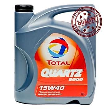 Aceite lubricante coche Total Quartz 5000 15W40 5 litros ...
