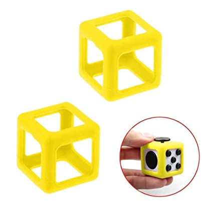WensLTD For Fidget Cube Stress Anxiety Relief In Kids And Adults Protective Prism Cases