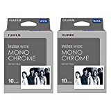 Fujifilm Instant Film 2-PACK BUNDLE SET , INSTAX WIDE MONOCHROME WW 1 (10 x 2 = 20 Shoots) for Instax Wide 300 Camera -Japan Import (2-pack)