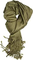 Dabung - Women's Luxurious Pashmina Scarf in Beautiful Solid Colors -Olive