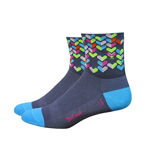 DeFeet Women's AirEator 3in Love Bug Cycling/Running Socks