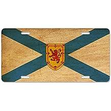 CafePress - Nova Scotia Flag Aluminum License Plate - Aluminum License Plate, Front License Plate, Vanity Tag