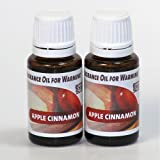 (US) 2-Pack. Apple Cinnamon Fragrance Oil for Warming from EcoScents (15 mL). Highly concentrated for intense fragrance, ready to use - no wax or water carrier needed.