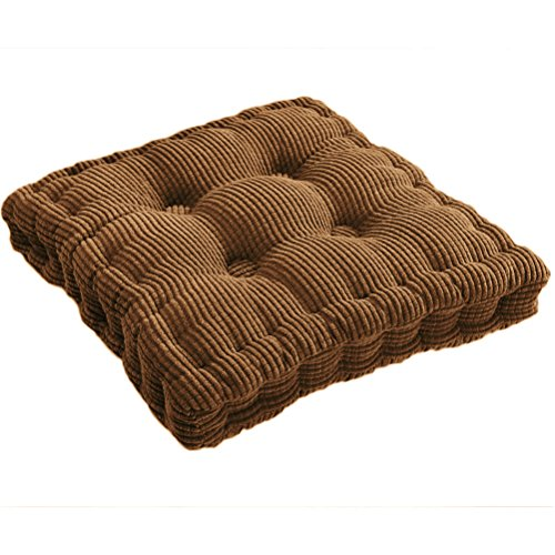 (Square EPE Filled Chair Pad Cushion Natural for Home Office Dinning Chair Solid Color Indoor Outdoor Seat Chair Pad (17.72