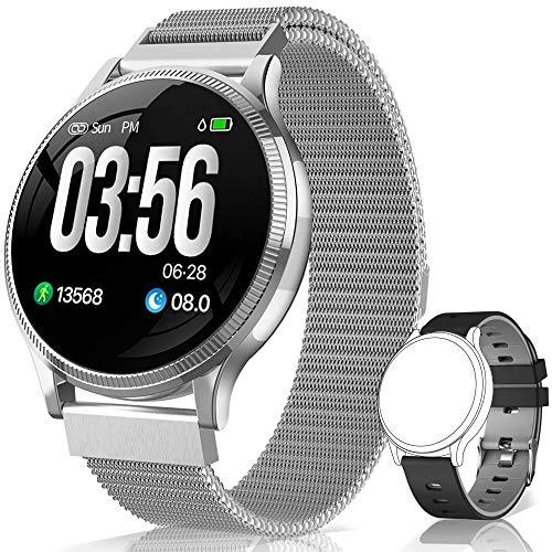 BANLVS Reloj Inteligente, Smartwatch IP67 1.22 Pulgadas Pulsómetro, Monitor de Sueño, Presión Arterial,Pulsera Actividad…