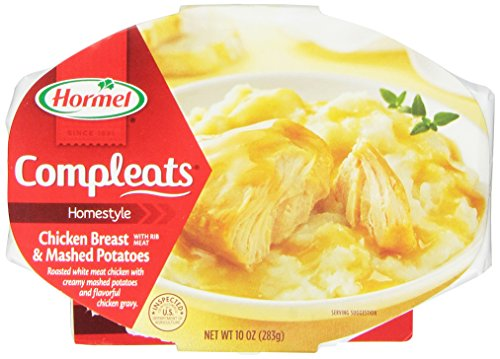 - Hormel Compleats Chicken Breast with Rib Meat & Mashed Potatoes with Gravy 3 Pack