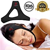 Anti Snoring Chin Strap- Complete Kit, Most Effective Solutions, Improves Health and The Sleep Quality of Partner, Adjustable, Premium Lightweight, Anti-Snoring Device. by AMA Industry