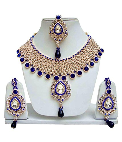 d2f311ba653541 Buy Jewels Gold Traditional Alloy Pleasant Traditional Gold Plated Fancy  Designer Necklace Set For Women & Girls Online at Low Prices in India    Amazon ...