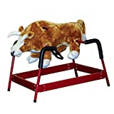 Spring Bull Rocking Toy with Sound - White, Red, Black, Brown