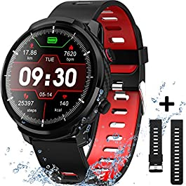 Smart Watch for Android iOS Phones, Waterproof Smart Watch, Fitness Tracker Smartwatch with Blood Pressure Heart Rate…