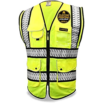 Workplace Safety Supplies Reflective Polyester Mesh Vests With Pockets For Construction Worker In Summer Silk Screen Company Logo Printing Security & Protection
