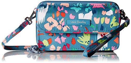 Vera Bradley Lighten Up RFID All in One Crossbody, Polyester, Superbloom Sketch