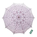 TopTie Lace Umbrella Parasol Wedding Bridal Photograph For Decoration Halloween Costume Accessories-Pink